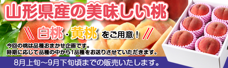 Peach special feature of Yamagata Prefecture product
